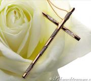 Elegant cross pendant with black & white diamonds image
