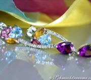 Pretty Multicolor Gemstone Earrings image