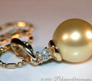 Golden Southsea Pearl Pendant incl. Chain image