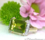 Feiner Peridot Diamanten Ring image