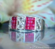 Attractive Ruby Diamond Ring image