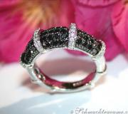 Aparter Brillanten & schwarze Diamanten Ring image