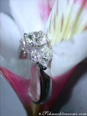 Solitär Brillant Ring, Weißgold 750